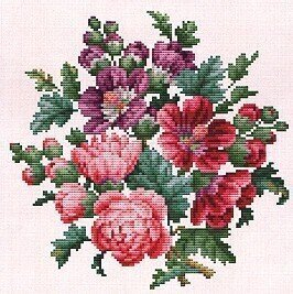 Symphony in Pink - Cross Stitch Pattern