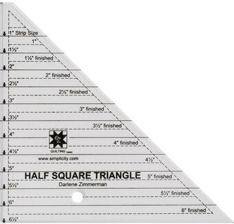 "EZ Quilting Angle Ruler Half Square Triangle - 6"" Clear"