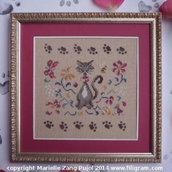 Cat in the Garden, A - Cross Stitch Pattern