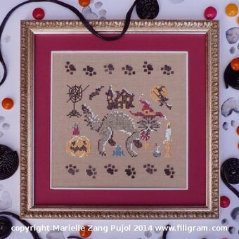Dark Cat, A - Cross Stitch Pattern