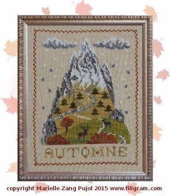 Autumn Mountain - Cross Stitch Pattern