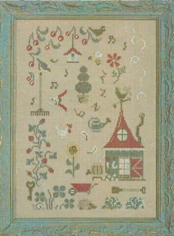In My Garden There Is - Cross Stitch Pattern