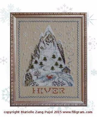 Winter Mountain - Cross Stitch Pattern