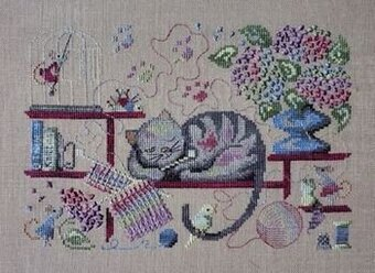 Knitting Cat - Cross Stitch Pattern