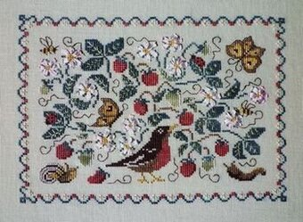Strawberry Plant - Cross Stitch Pattern