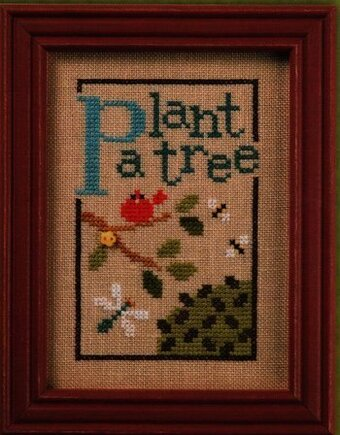 Green Flip-It - Plant a Tree - Cross Stitch Pattern