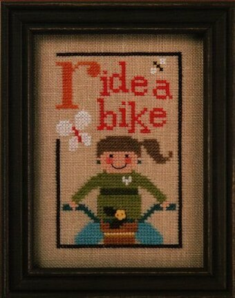 Green Flip-It - Ride a Bike - Cross Stitch Pattern