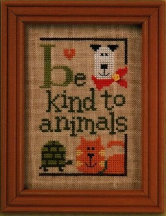 Green Flip-It - Be Kind to Animals - Cross Stitch Pattern