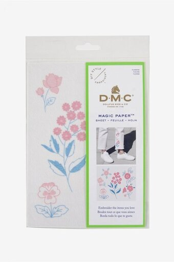 Flowers Embroidery Magic Paper - DMC Embroidery Pattern
