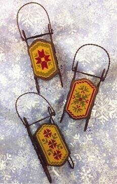 Quaker Sleds - Cross Stitch Pattern