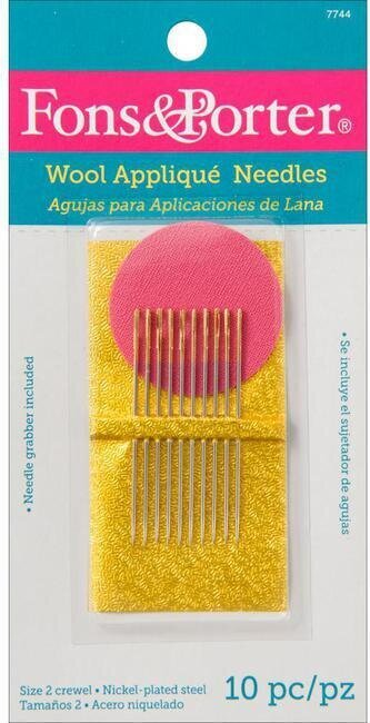 Fons & Porter Hand Wool Applique Needles - Size 2