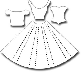 Frantic Stamper Dies - Pleated Dress
