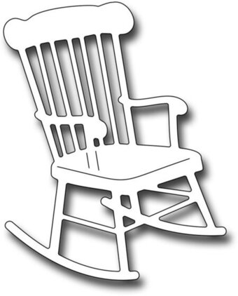 rocking chair clipart. Frantic Stamper Dies - Rocking Chair Clipart D