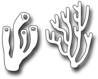 Stag And Pipe Coral - Frantic Stamper Craft Die