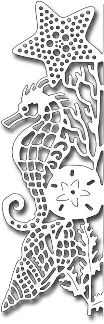 Frantic Stamper Die - Seahorse Edger Facing Left
