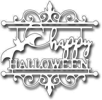 Frantic Stamper Dies - Happy Halloween Medallion