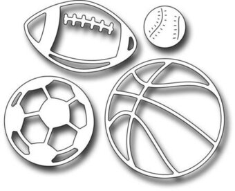 Sports Ball Icons - Frantic Stamper Craft Dies