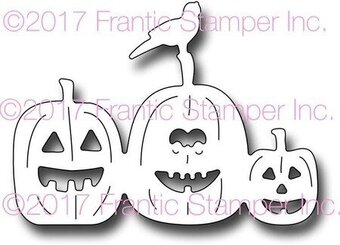 Spooky Jack O'Lanterns - Frantic Stamper Halloween Craft Die