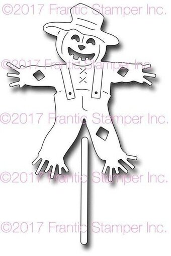 Smiling Scarecrow - Frantic Stamper Craft Dies