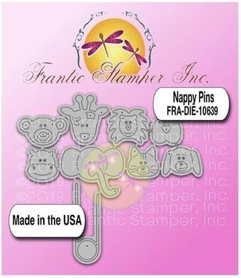 Nappy Pins - Frantic Stamper Craft Die
