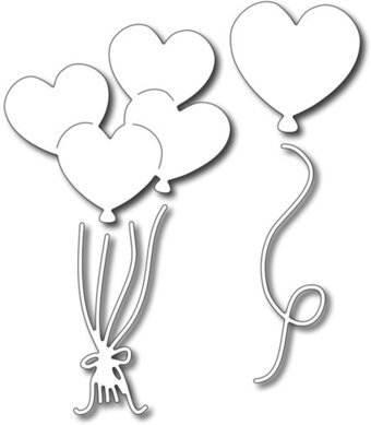 Heart Balloons (set of 4) - Frantic Stamper Craft Dies