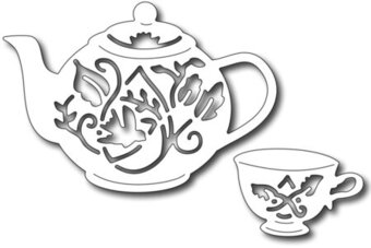 Tea set (set of 2 dies) - Frantic Stamper Craft Dies
