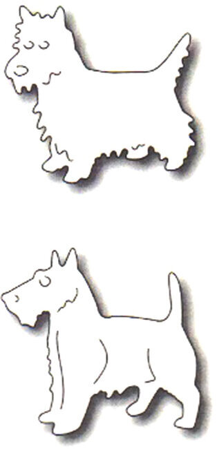Frantic Stamper Precision Dies - Two Terriers