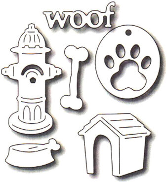 Frantic Stamper Precision Dies - Dog Icons (set of 6)