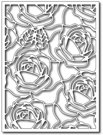 Blooming Roses Card Panel - Frantic Stamper Craft Dies