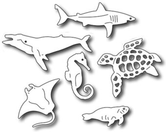 Sea Creatures Icons - Frantic Stamper Craft Dies