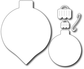 Frantic Stamper Dies - Large Solid Ornament Duo