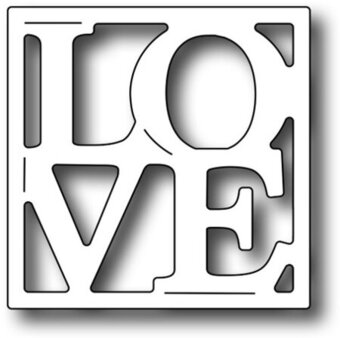 Square Vignette LOVE Insert - Frantic Stamper Craft Dies