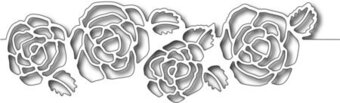 Frantic Stamper Dies - Rose Cutout Border