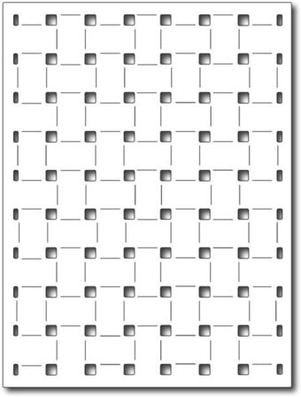 Frantic Stamper Dies - Basket Weave Panel