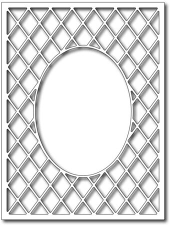 Frantic Stamper Dies - Lattice Oval Frame