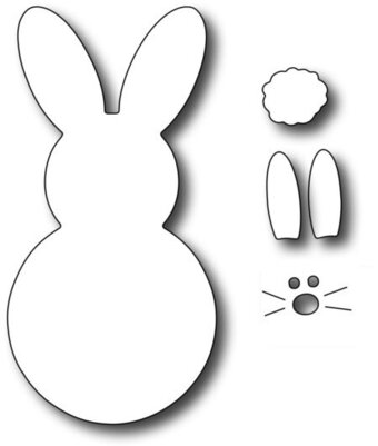 Frantic Stamper Dies - Large Marshmallow Bunny