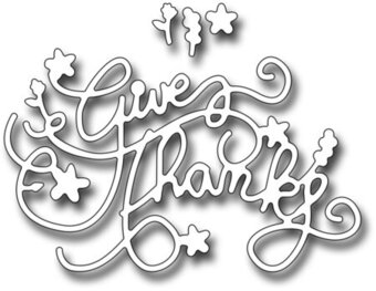 Frantic Stamper Dies - Ornate Give Thanks