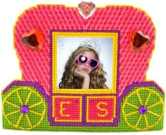 Bejewelled Carriage Photo Frame - Framous Plastic Canvas Kit