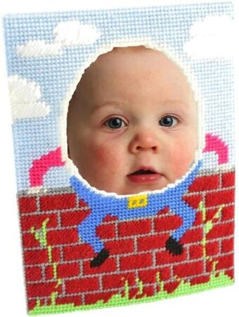 Humpty Dumpty Photo Frame - Framous Plastic Canvas Kit