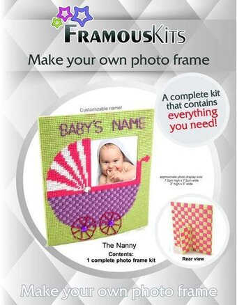 Photo Frame Framous Plastic Canvas