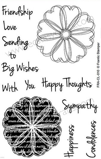 Frantic Stamper Clear Stamp Set - Scribble Flowers 1