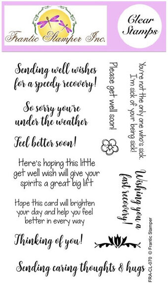 Get Well Soon - Frantic Stamper Clear Stamp Set