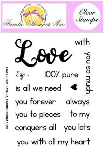 Love Sentiments - Frantic Stamper Clear Stamp Set