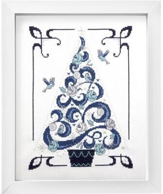 O Tannenbaum in Blue - Cross Stitch Pattern