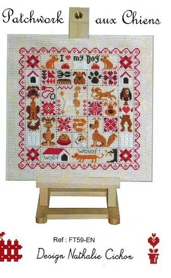 Patchwork Aux Chiens - Cross Stitch Pattern