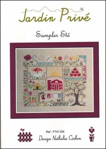 Sampler Ete - Cross Stitch Pattern
