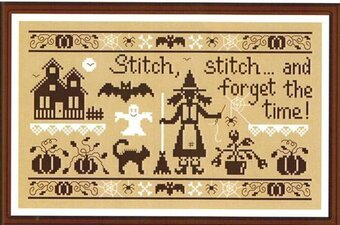 Stitch Stitch Stitch & Forget the Time Cross Stitch Pattern
