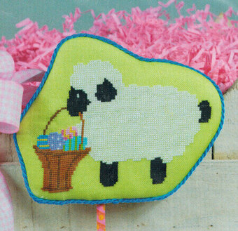 Lamb with Basket - Cross Stitch Pattern