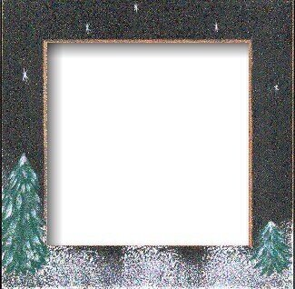 winter night frame - Winter Picture Frames