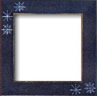 Snowflake Blue Folk Art Frame